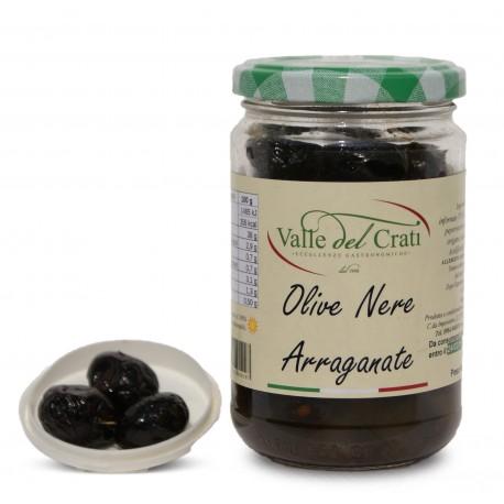 Olive Nere Arreganate alla calabrese sott'olio di oliva