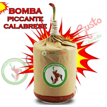 Bomba Calabrese Piccante con Olio d'Oliva