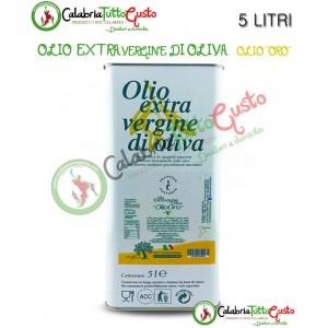 Latta Olio Extra Vergine d'oliva calabrese 5 LITRI