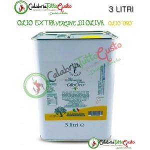 Latta Olio Extra Vergine d'oliva Calabrese 3 LITRI